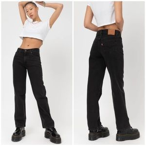 Levi's high rise loose straight jeans black NWT 29